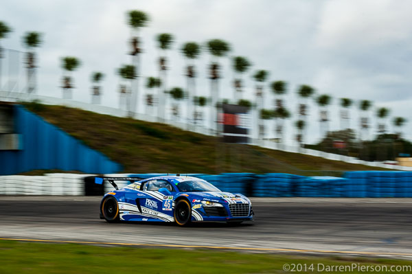 #46 Fall-Line Motorsports Audi R8 LMS: Christopher Mies, Charlie Putman, Charles Espenlaub